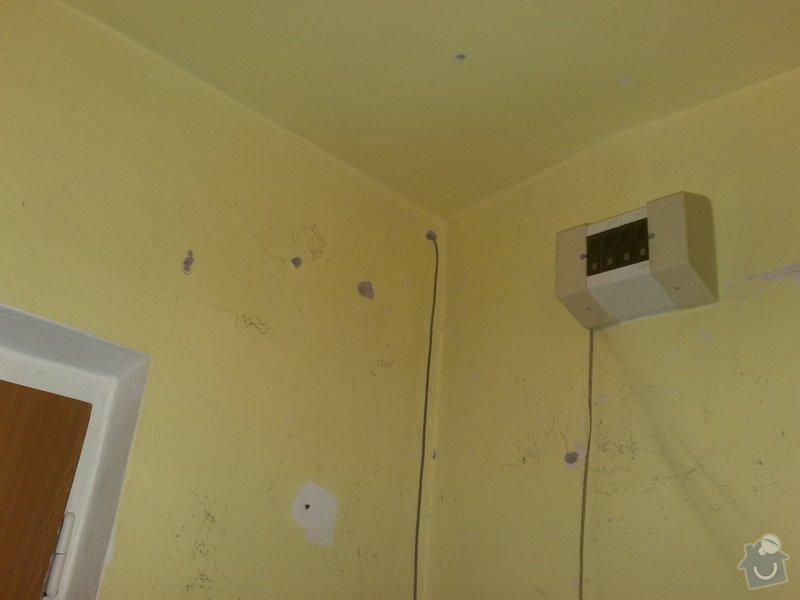 Přemístění skřínky s jističi, úprava elektroinstalace: 21082011106