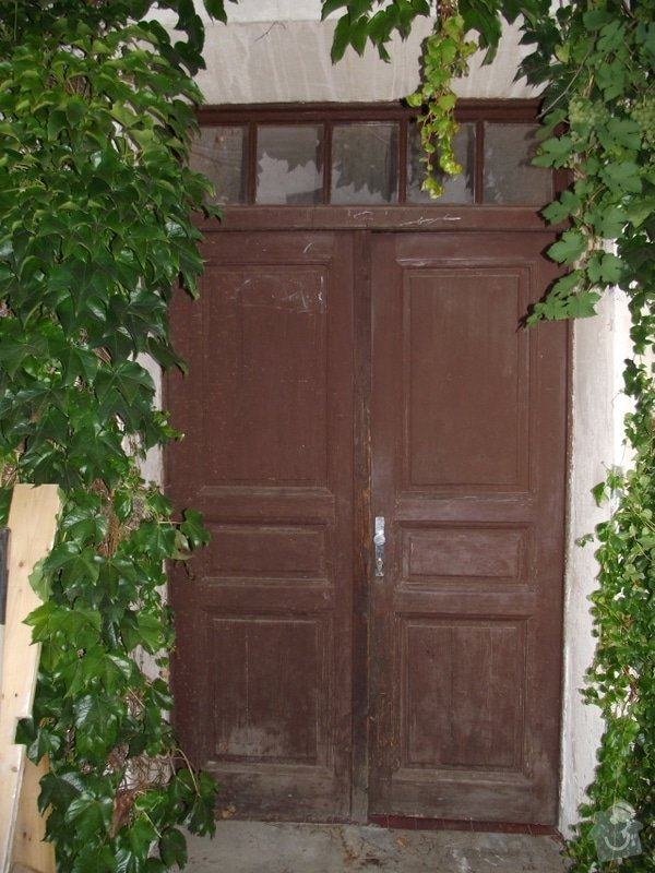 Výroba a instalace 3 dvoukřídlých dveří (replika): do_zahrady