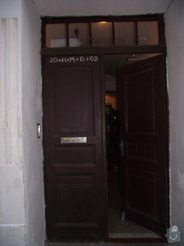 Výroba a instalace 3 dvoukřídlých dveří (replika): do_ulice