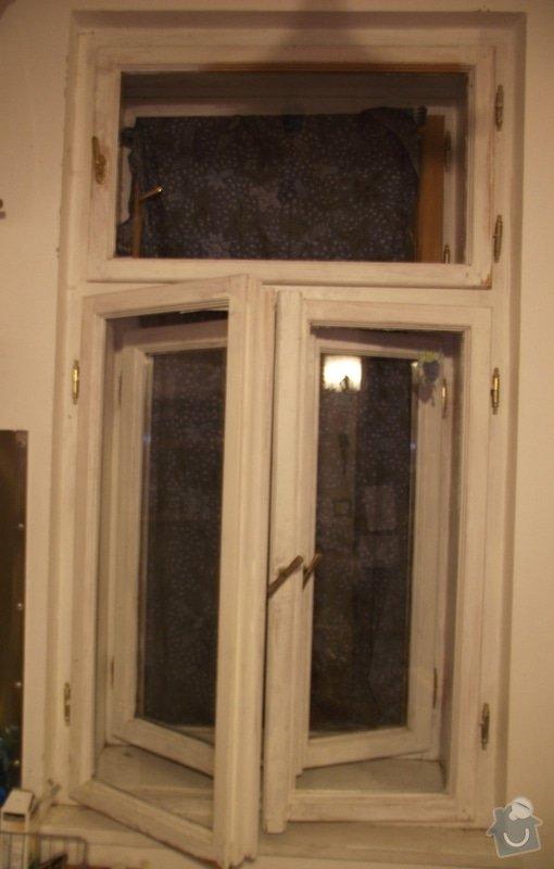 Nalakování dřevěného špaletového okna: okno_vnitrni