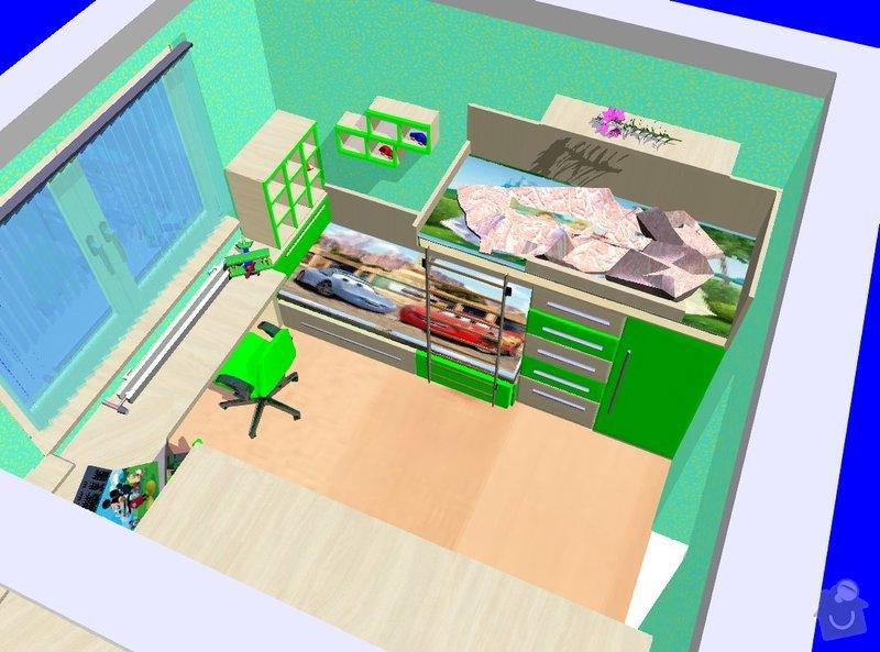 Nezávazná cenová nabídka na výrobu dětského pokoje: Pinterova_pokoj_2_UPRAVA_c