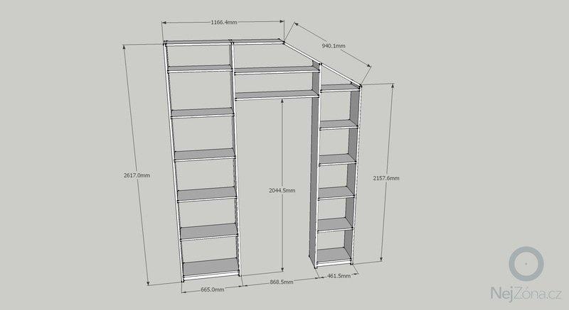 Truhlářská výroba - Pracovní stůl a Knihovna: knihovna-rozmery