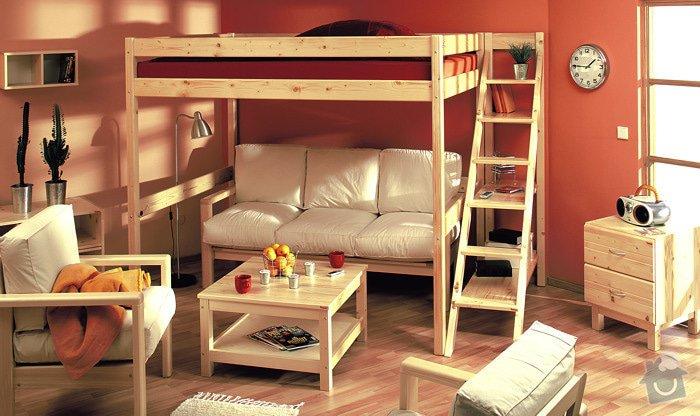 Zvýšená postel z masivu : postel_se_schudky