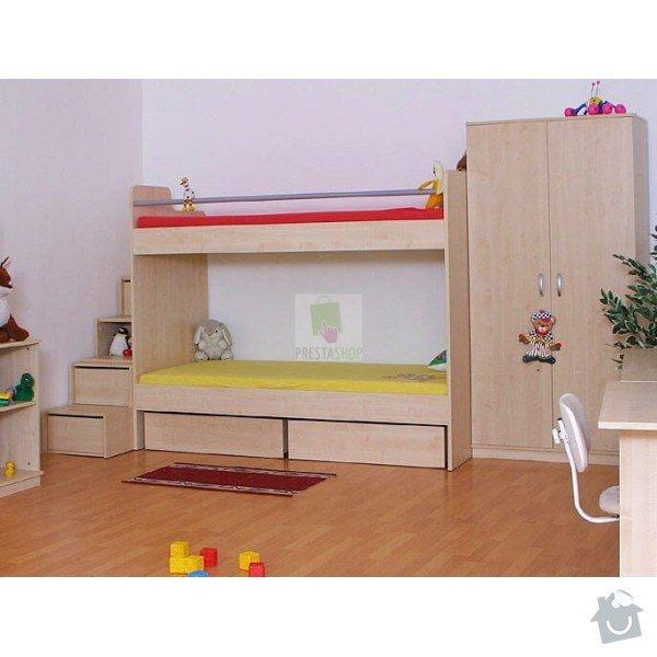 Zvýšená postel z masivu : poschodova-postel-se-schudky-d53-donald