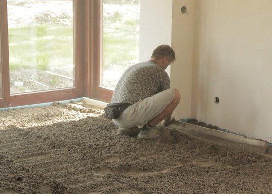 Zhotovení betonových podlah