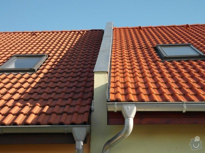 Zedník - stavitel, k výstavbě zídky mezi střechami v řadovém RD a její oplechování: 03