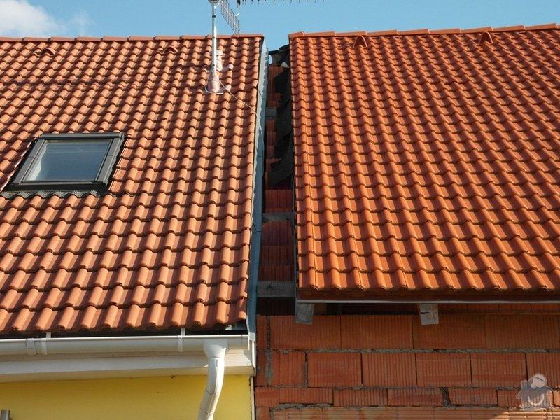 Zedník - stavitel, k výstavbě zídky mezi střechami v řadovém RD a její oplechování: muj01
