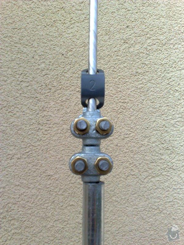 Montáž nových svodů pro stávající hromosvod: 01092011834