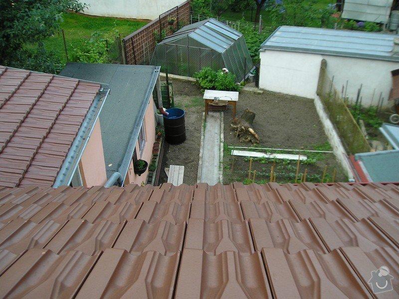 Instalace hromosvodu: Dvur_ze_strechy