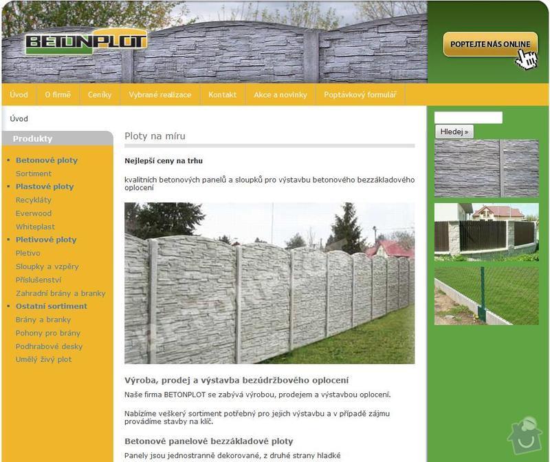 Zajištění nového CMS systému: ploty
