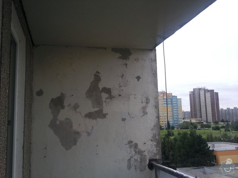 Renovace panelového balkonu: Fotografie086