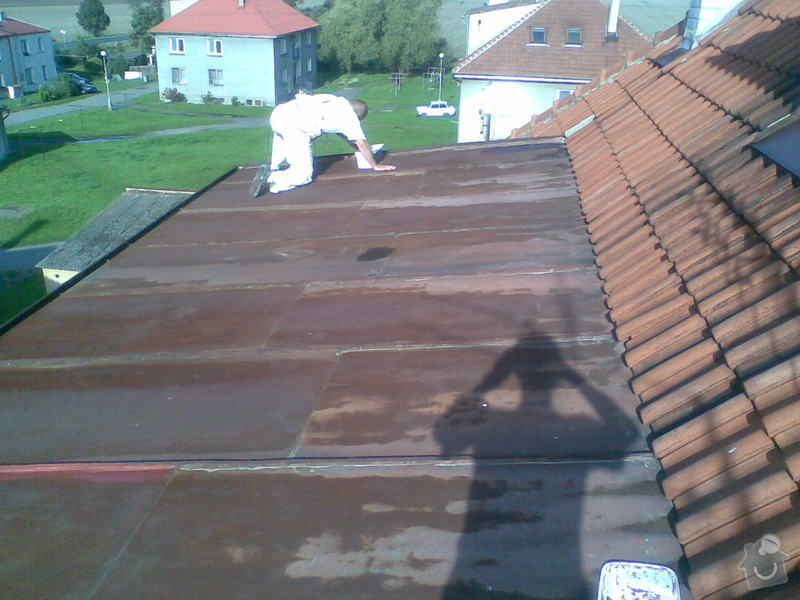 Nátěr střechy Liblice 165: Nater_strechy_pred_naterem