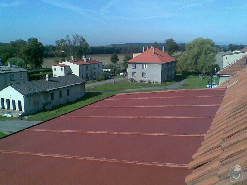 Nátěr střechy Liblice 165: Nater_strechy_po_nateru