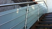 Nerezové zábradlí balkónu