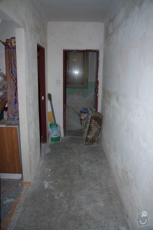 Rekonstrukce koupelny, wc a chodby - dlažba, obklady a instalatérské práce: DPP002