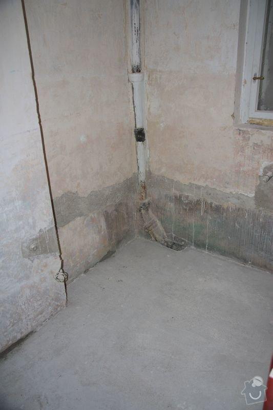 Rekonstrukce koupelny, wc a chodby - dlažba, obklady a instalatérské práce: DPP003