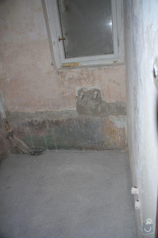 Rekonstrukce koupelny, wc a chodby - dlažba, obklady a instalatérské práce: DPP004