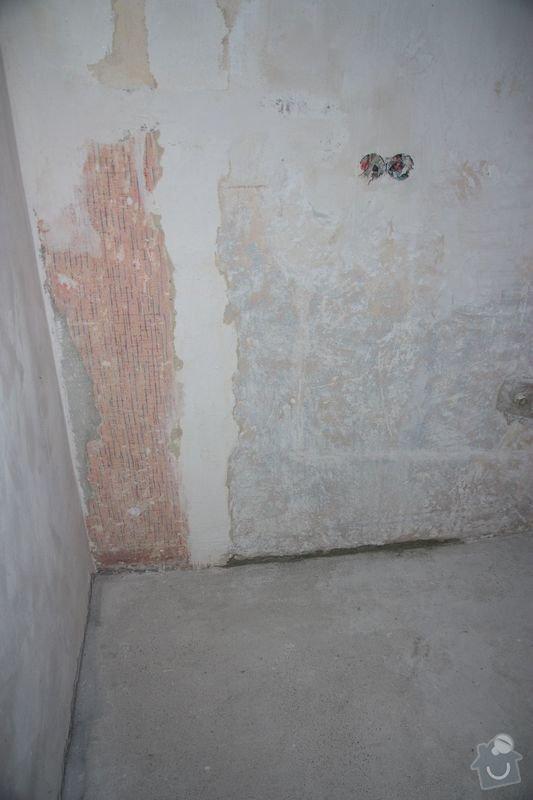 Rekonstrukce koupelny, wc a chodby - dlažba, obklady a instalatérské práce: DPP005
