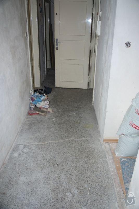 Rekonstrukce koupelny, wc a chodby - dlažba, obklady a instalatérské práce: DPP006