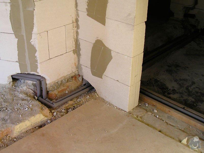 Vybudovat nové radiátorové topení v RD.: stavba2