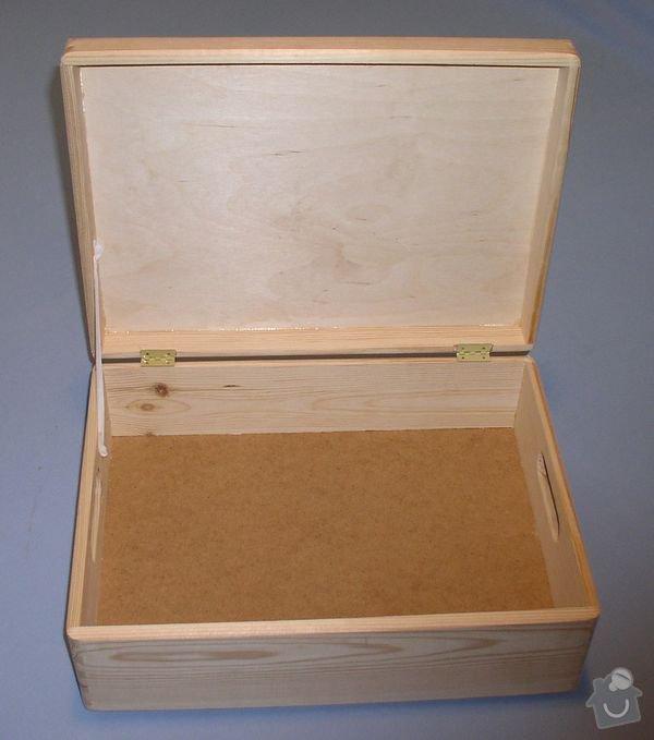 Dřevěné bedýnky s víkem: bedna