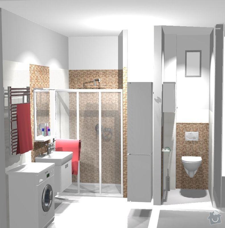 Kompletní rekonstrukce koupelny a WC v cihlovém domě v 6.NP : pohled3