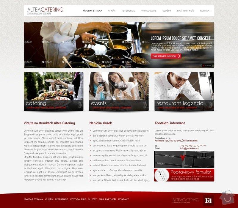 Tvorba webu alteacatering.cz: alteacatering