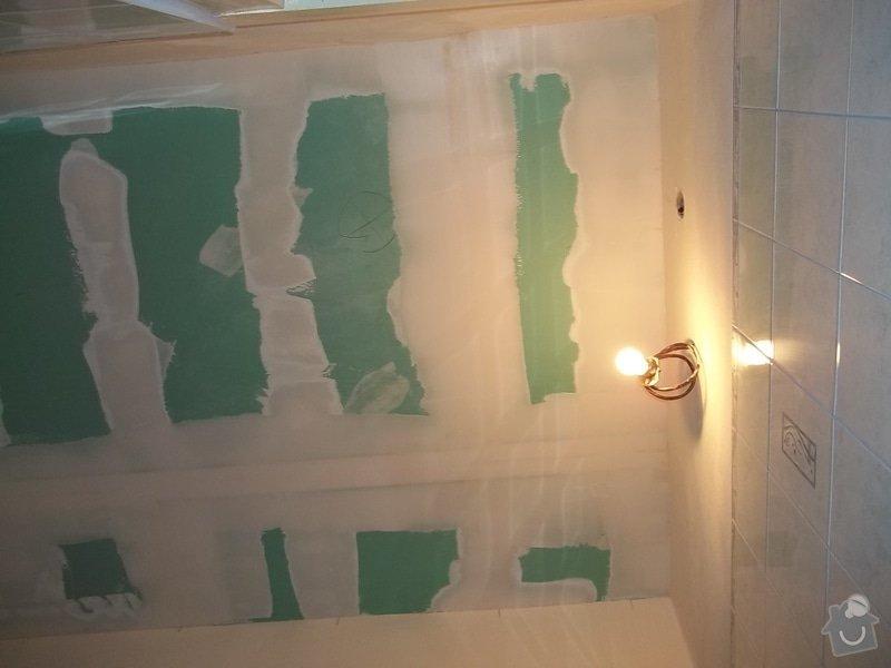 Snížený podhled v koupelně: 104_0552