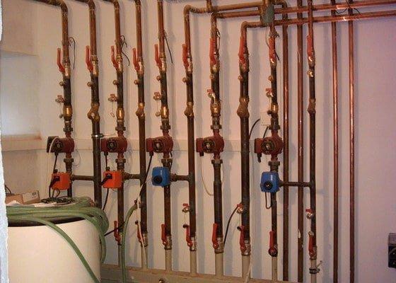 Dodávky a montáže ústředního topení a vody