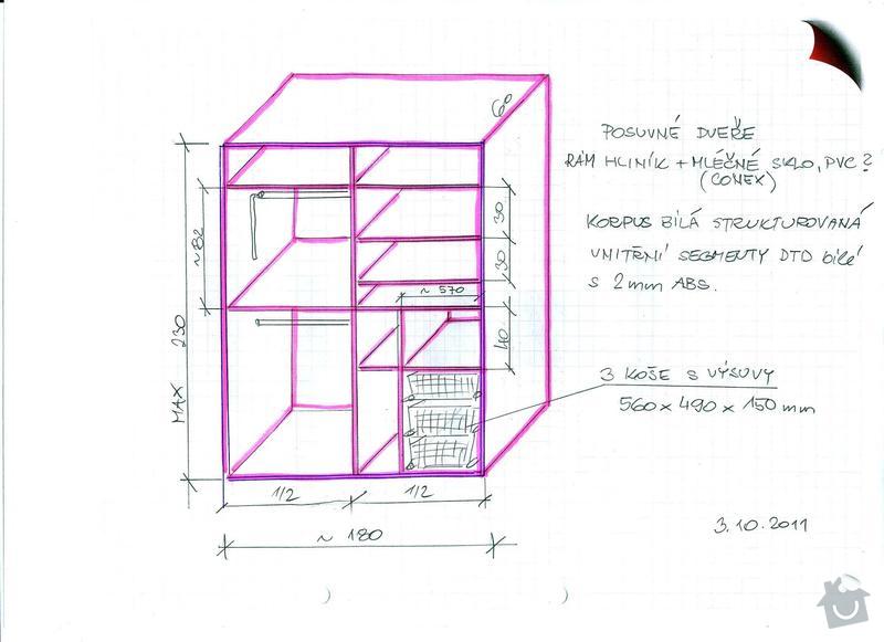 Vestavěná skříň s posuvnými dveřmi: Skrin_III