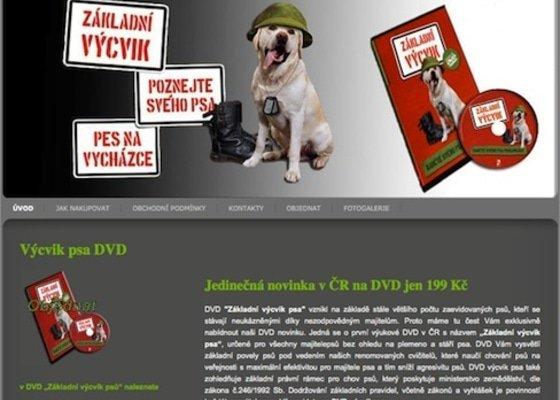 Tvorba webu dvd-vycvik-psa.cz