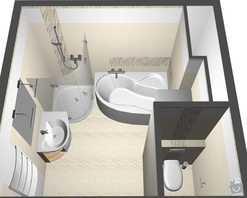 Rekonstrukce celého bytu 3+1 a výroba kuchyně, : perspektiva3