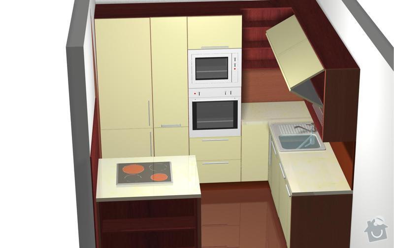 Rekonstrukce celého bytu 3+1 a výroba kuchyně, : perspektiva_zmenadverichladnicka1