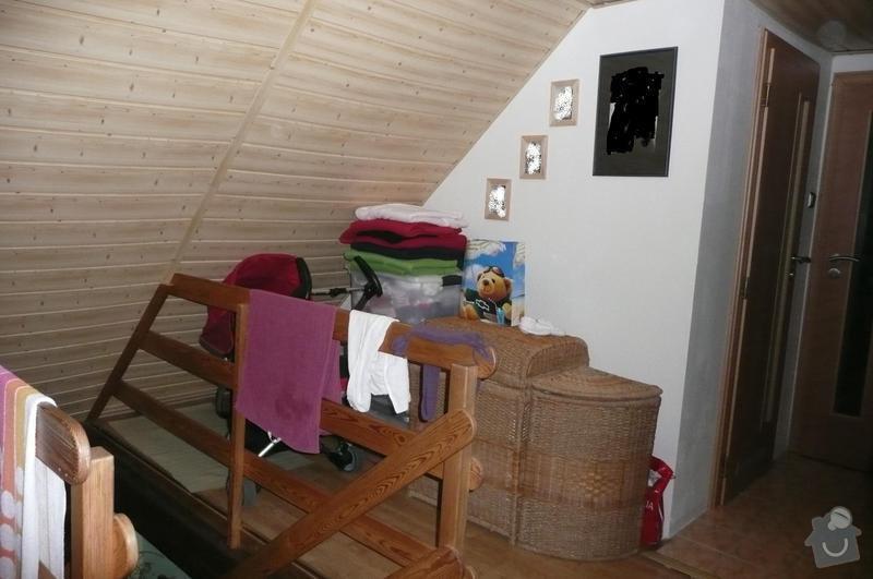 Sádrokartonová konstrukce v podkroví: P1090089