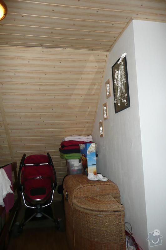 Sádrokartonová konstrukce v podkroví: P1090091