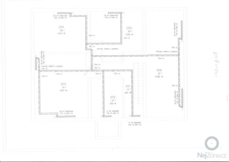Lité podlahy v RD Opatovice u Rajhradu: 2NP