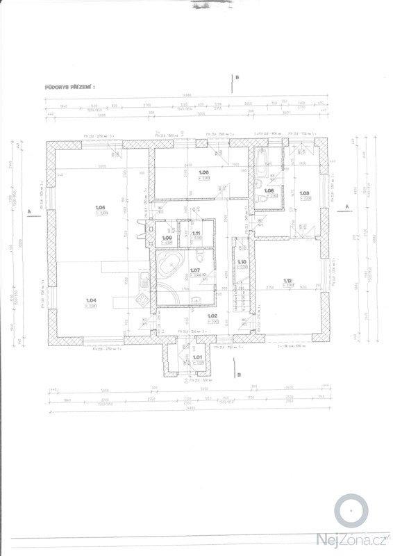 Lité podlahy v RD Opatovice u Rajhradu: 1NP