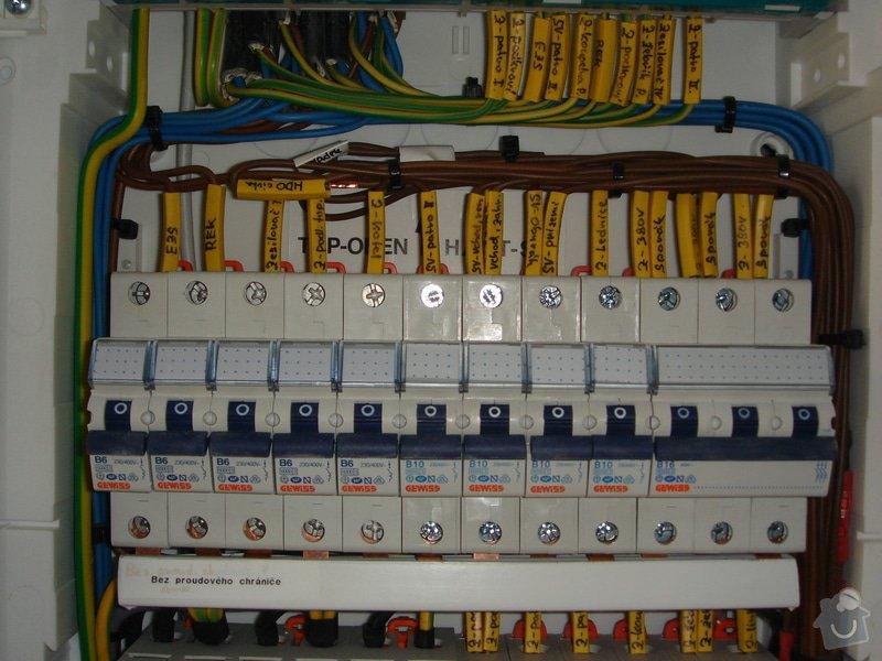 Kompletace elektro v RD, dokončení elektroinstalace vč.revize: 010