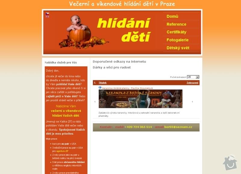 Vytvoření webových stránek pro službu Hlídání dětí: hlidani_deti_110