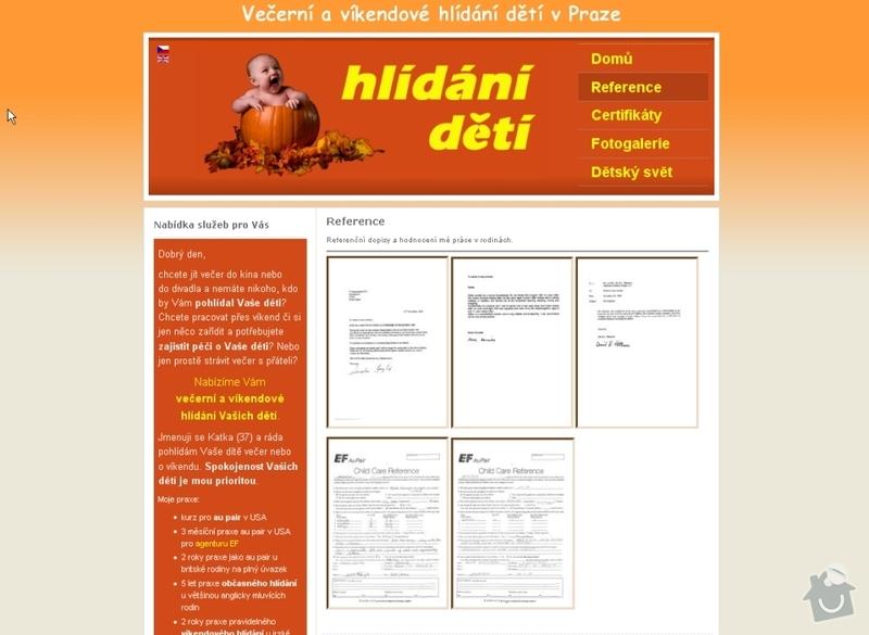Vytvoření webových stránek pro službu Hlídání dětí: hlidani_deti_102