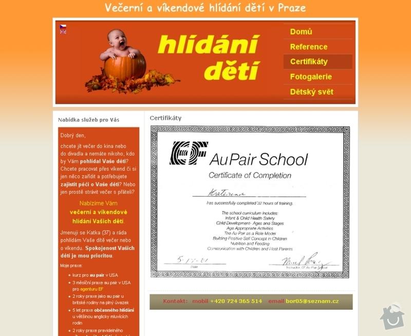 Vytvoření webových stránek pro službu Hlídání dětí: hlidani_deti_103