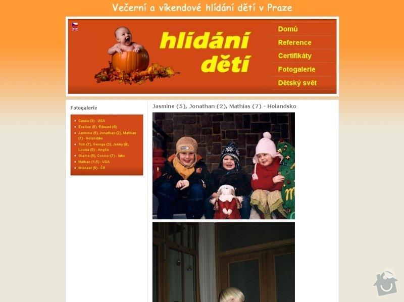 Vytvoření webových stránek pro službu Hlídání dětí: hlidani_deti_104