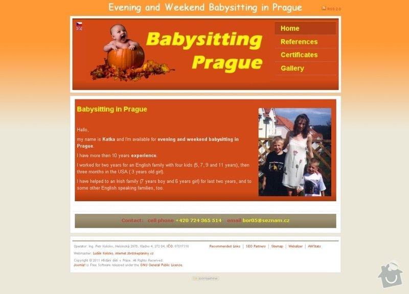 Vytvoření webových stránek pro službu Hlídání dětí: hlidani_deti_106