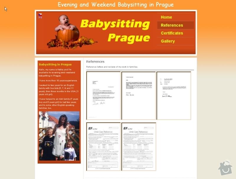Vytvoření webových stránek pro službu Hlídání dětí: hlidani_deti_107