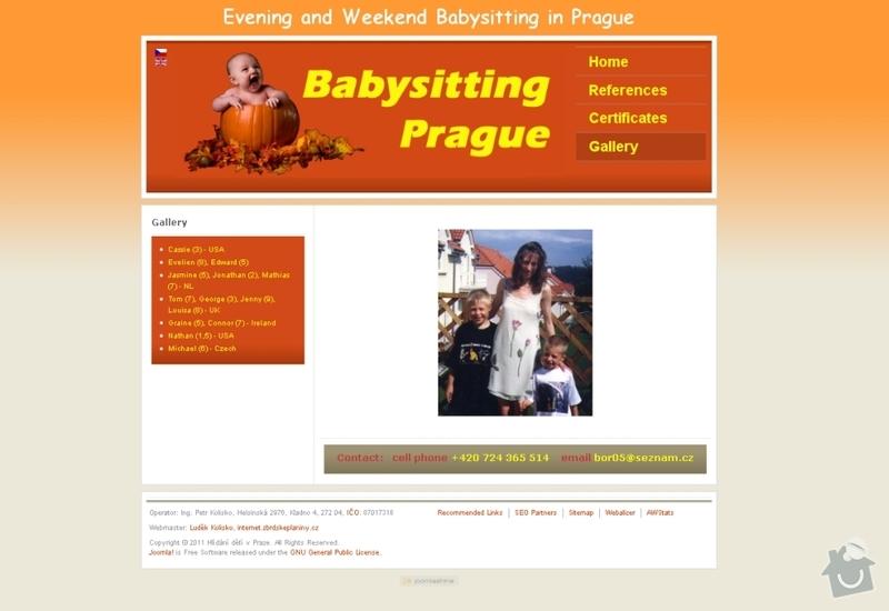 Vytvoření webových stránek pro službu Hlídání dětí: hlidani_deti_109