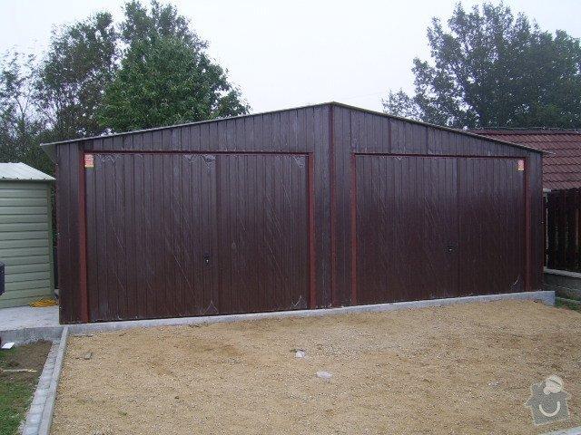 Plechová montovaná garáž: SSA42533