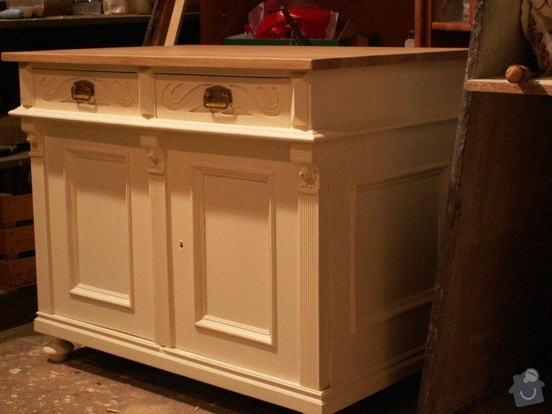 Renovace komody a nočního stolku: komoda
