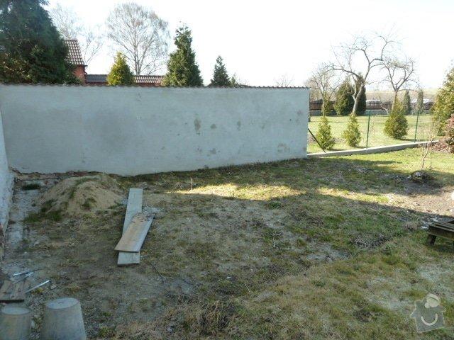 Renovace fasády, zhotovení plotu, zámkové dlažby, pergola: P1030967