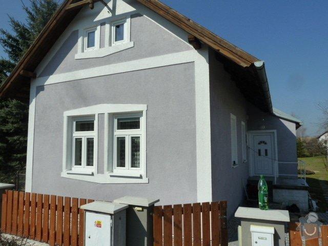 Renovace fasády, zhotovení plotu, zámkové dlažby, pergola: P1030964