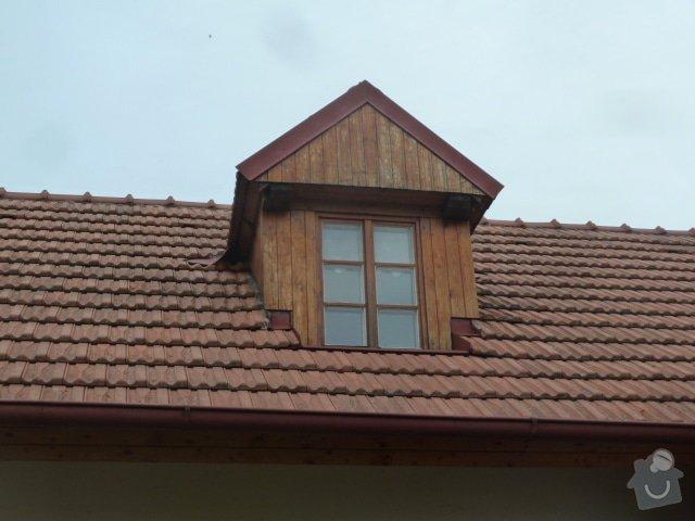 Nátěry klempířských konstrukcí, podbití střechy, zednické práce: P1050407